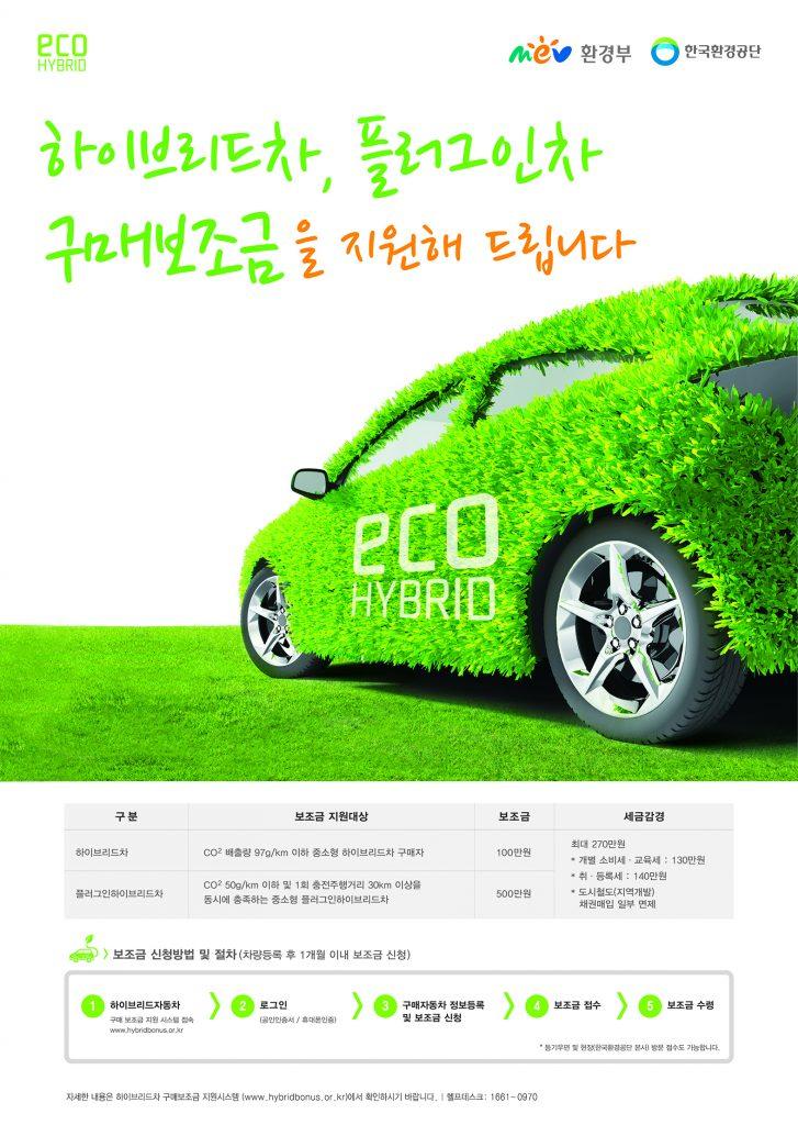 환경부 하이브리차보조금 포스터 디자인